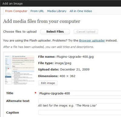 New Image Editor for WordPress 2.9